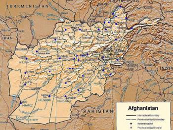 afghanistan airport map