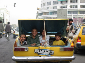 Afghan children in Taxi